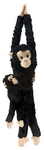 Wild Republic Chimpanzee w/baby plush, Monkey Stuffed Animal