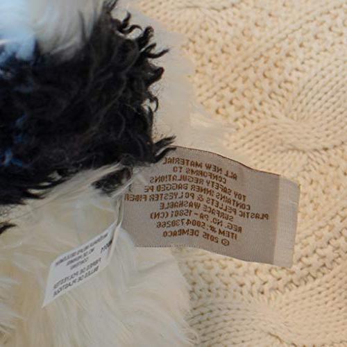 DEMDACO Small Dog and White Children's Plush Stuffed