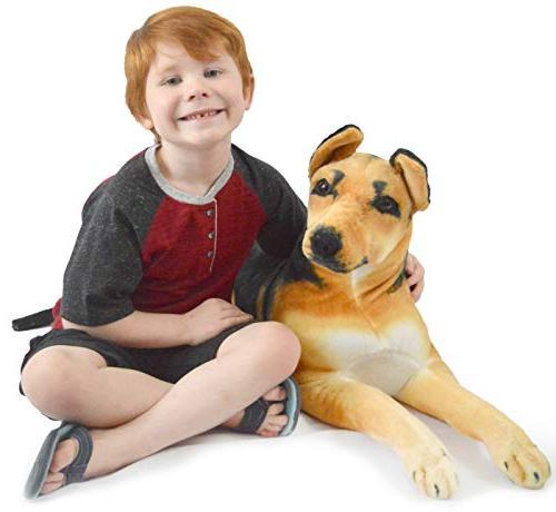 VIAHART Shepherd 3 Big Plush Dog Texas by Tale