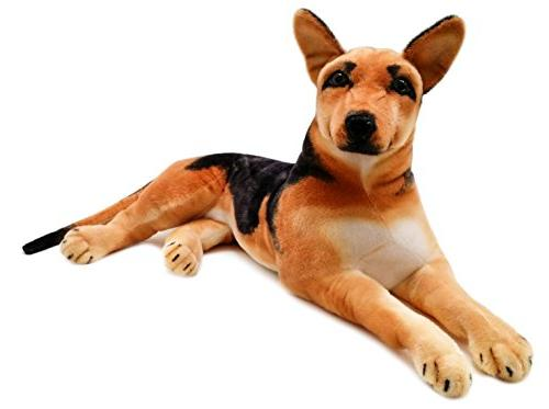 VIAHART Hilde The German Shepherd | Big Dog Texas Tiger Tale Toys