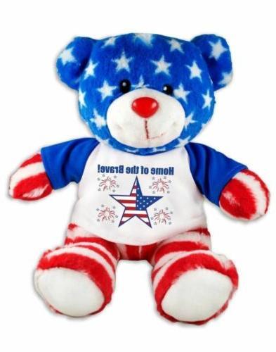 home brave patriotic teddy bear