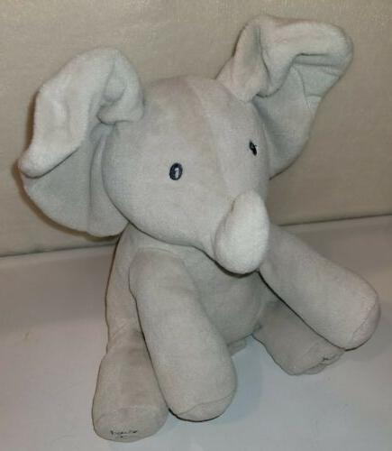 GUND Infant Baby Flappy Toy Gray Sings Talks
