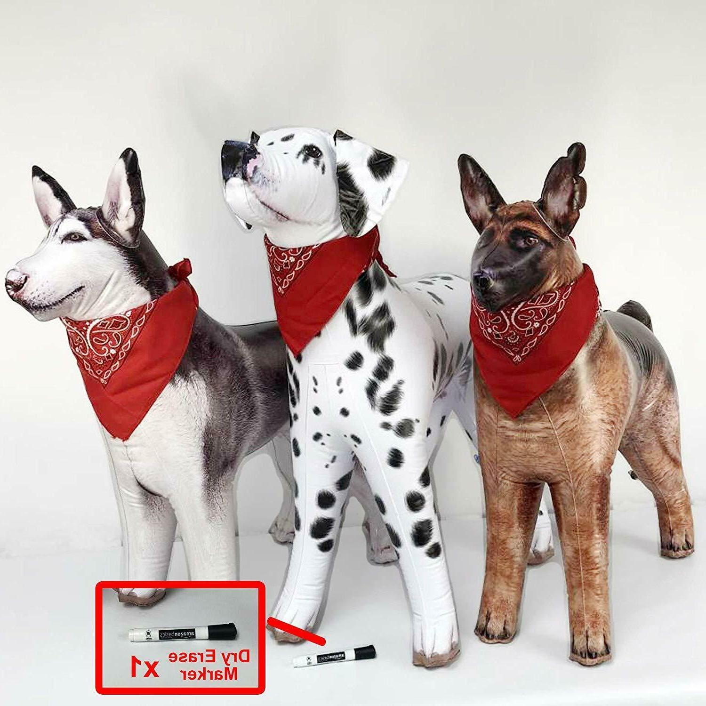 3 Inflatable Dogs Animals Dalmatian Husky German Shepherd wi