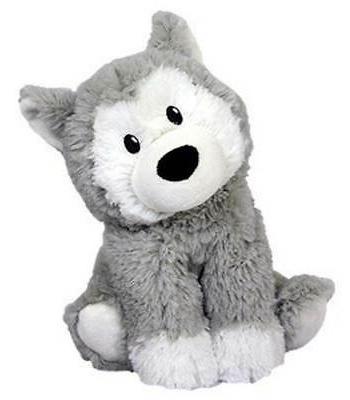 intelex cozy microwaveable plush husky