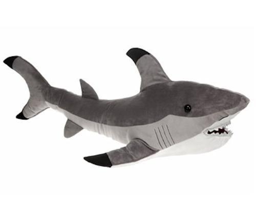 jumbo gray shark plush stuffed