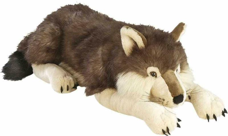jumbo wolf plush giant stuffed animal plush