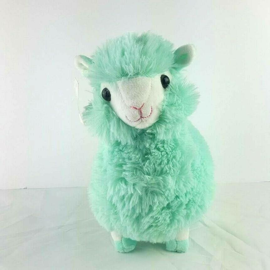 justice plush llama blue stuffed animal kelly