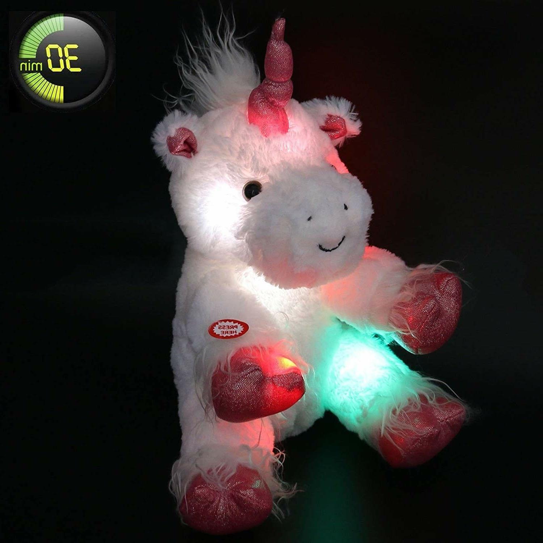 kids plush unicorn stuffed animal toy led