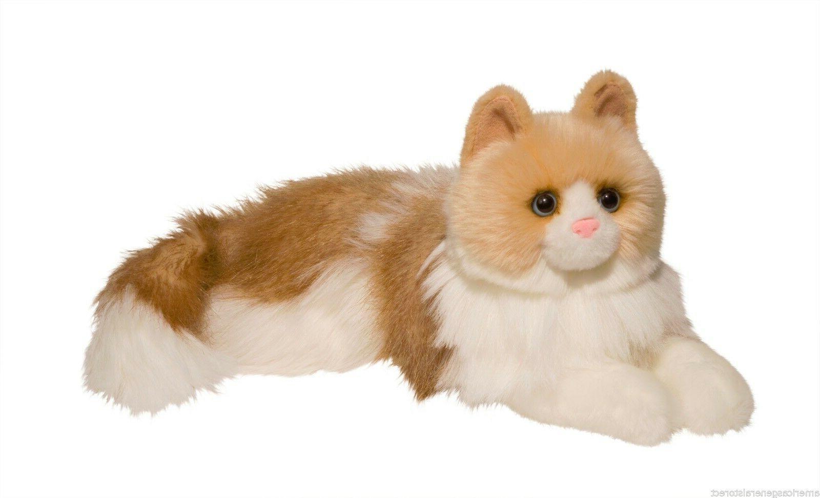 """KIKI Ragdoll stuffed animal plush cat by Douglas 20"""" long fl"""