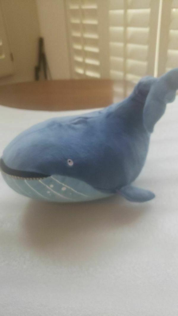 Kohl's Whale Stuck Plush Stuffed fish