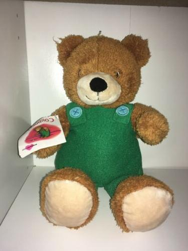 "Kohls Cares Corduroy Plush 14"" Bear Green Overalls New Stuff"