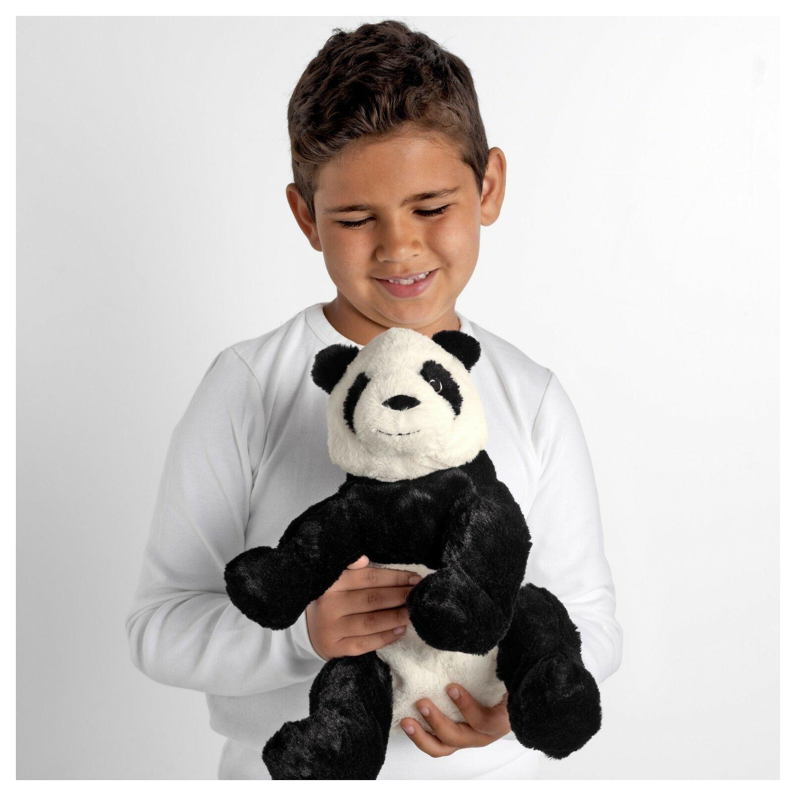 "IKEA Panda Bear 12"" Stuffed Animal Kid Soft Toy White Black"