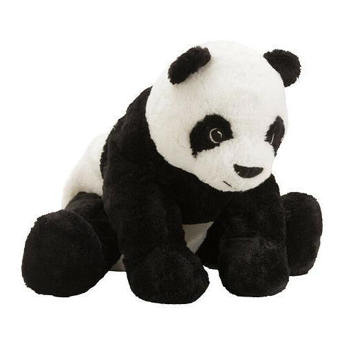 Ikea Bear Soft Toy Kids Baby White Black
