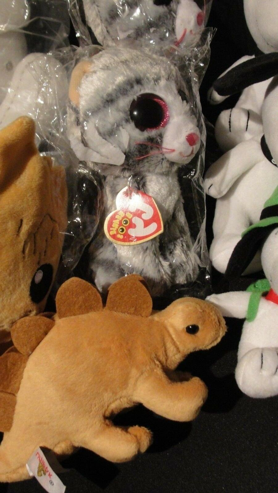 Large Lot 10 Stuffed Animals Plush Toys, Snoopy, Groot, Ty, NEW