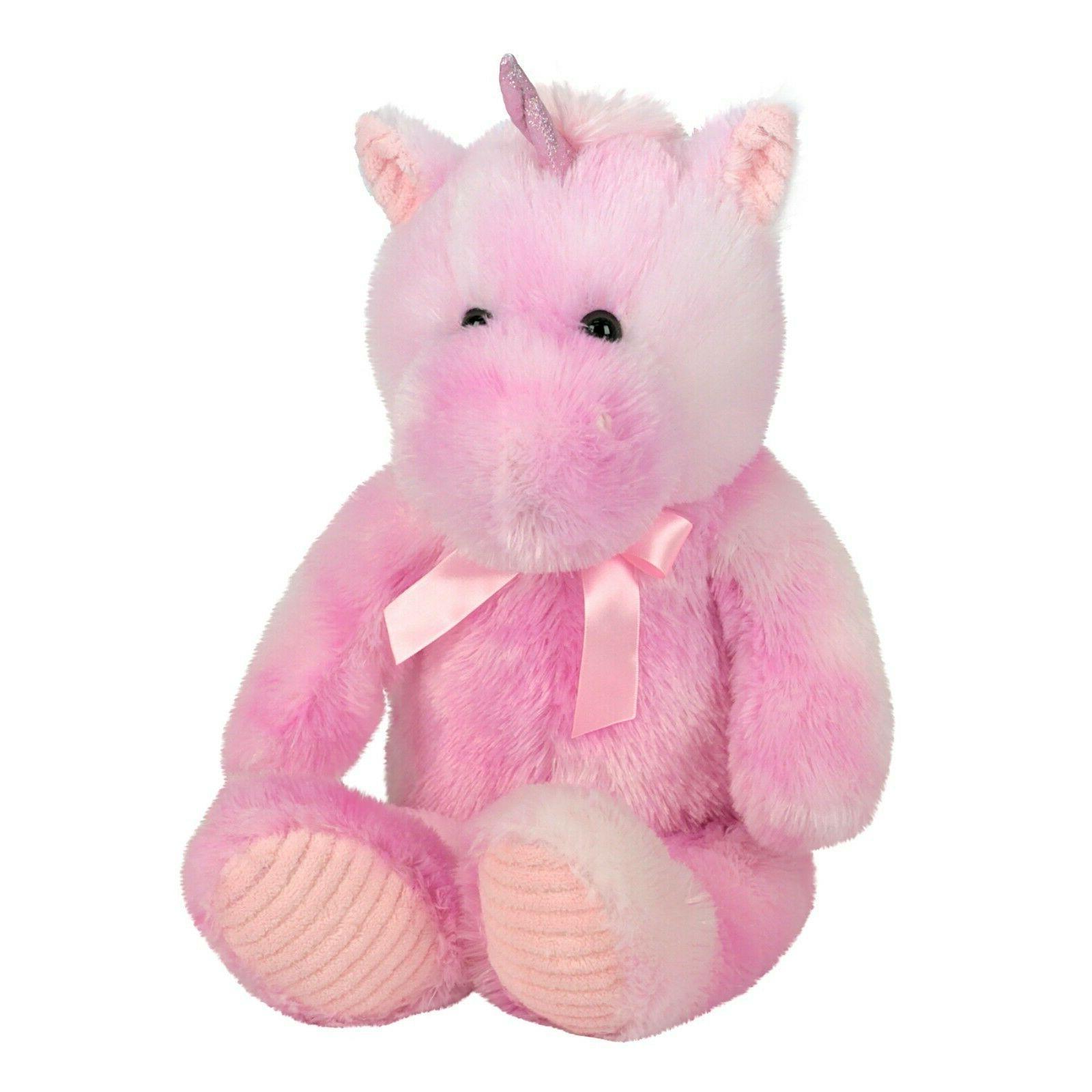 large unicorn plush stuffed animal floppy pink
