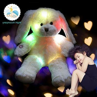 WEWILL Stuffed Animals Glow Rabbit Floppy