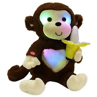 led cute monkey stuffed animal creative glow