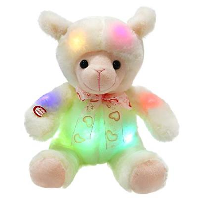 WEWILL LED Lamb Stuffed Animals Sheep Soft Plush Toy with 30