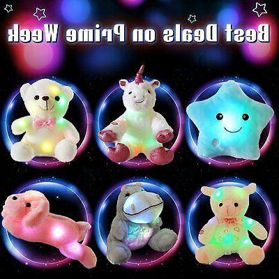 WEWILL LED Lamb Animals Sheep Soft Plush Toy Timer,...