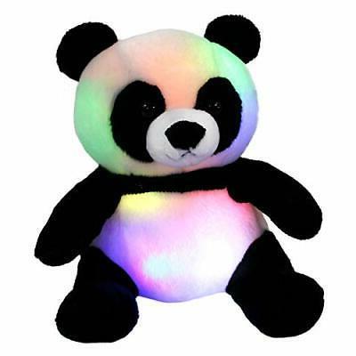 led panda stuffed animal glow soft plush