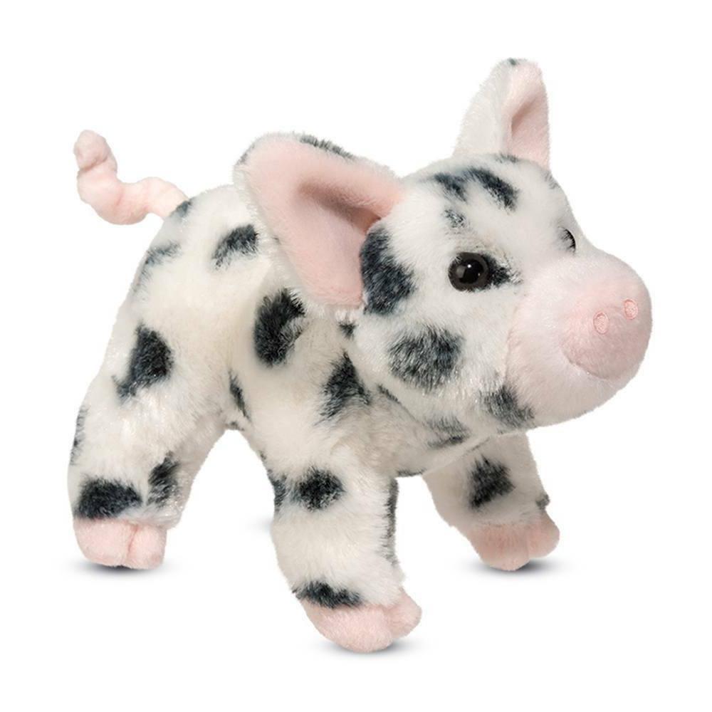 leroy black spot pig plush