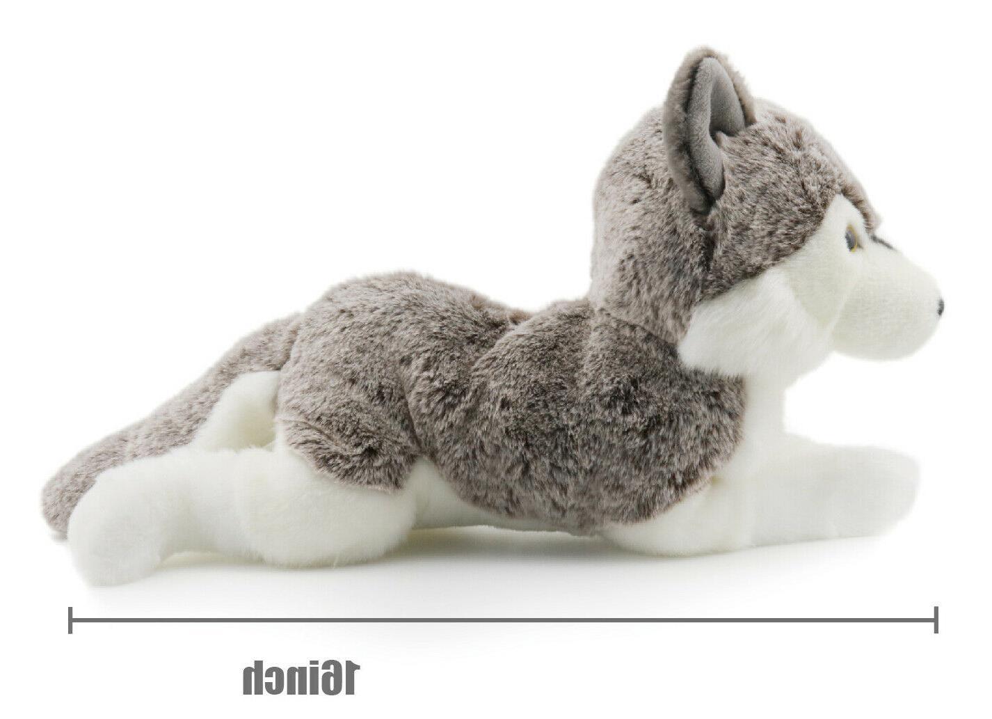 Lifelike Siberian Stuffed Animal Plush 16 Inches - KING BEAR