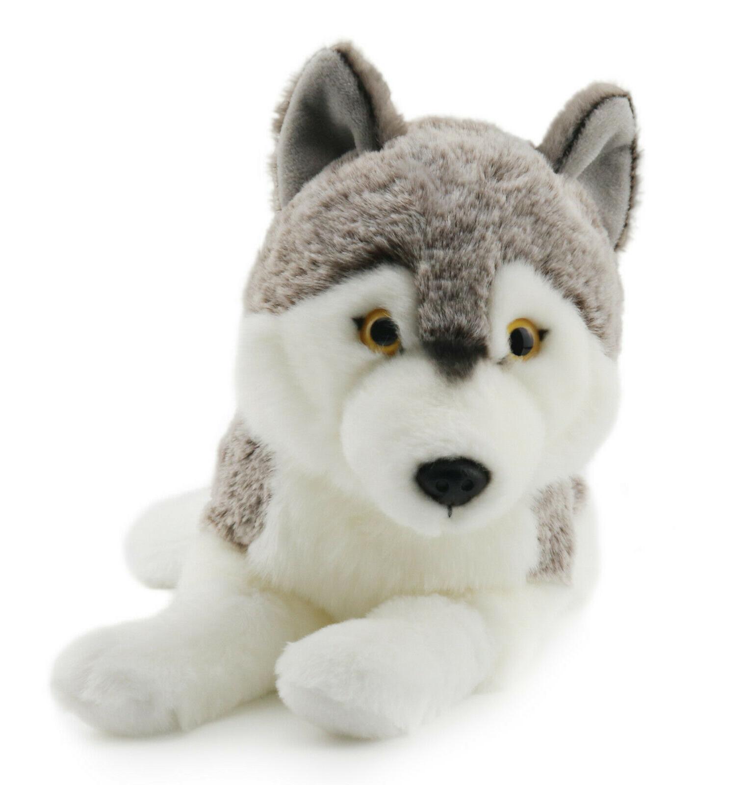 lifelike siberian wolf stuffed animal plush toy