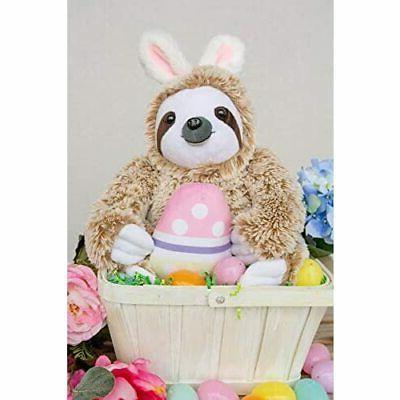 Light Autumn Easter Stuffed Animal Sloth Bunnies -