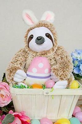 Light Easter Stuffed Animal Sloth Bunnies -