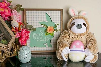 Light Easter Stuffed Animal Sloth Bunnies for Easter -
