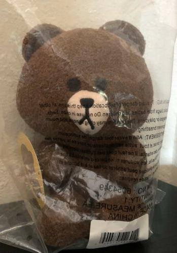 line friends 7in brown bear seated plush