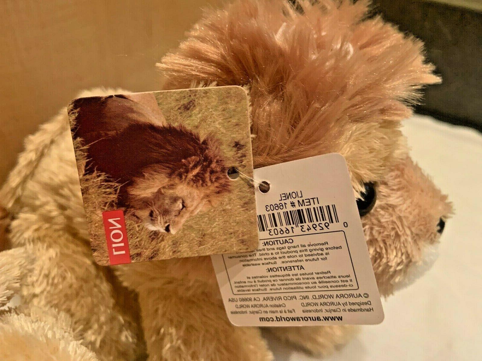 LIONEL Lion & Lioness Mini Flopsie Stuffed Plush Aurora
