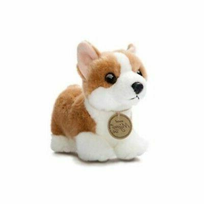 Little Plush Puppy Dog Tan Standing Stuffed Animal Toy Gift
