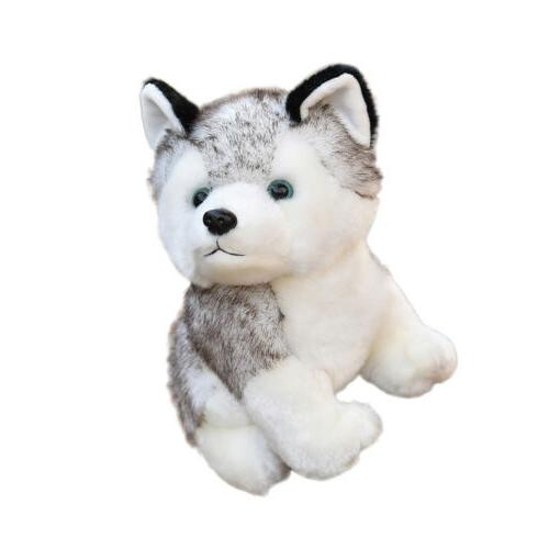 Lovely Husky Dog Plush Toy Animal Wolf Pet Kids Gift