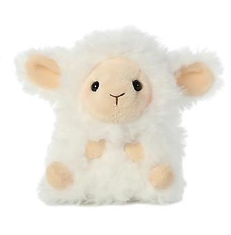 5 Inch Lyssa Lamb Rolly Pet Plush Stuffed Animal by Aurora