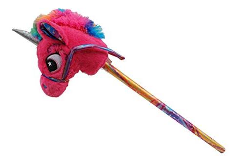 magical pink rainbow unicorn stick
