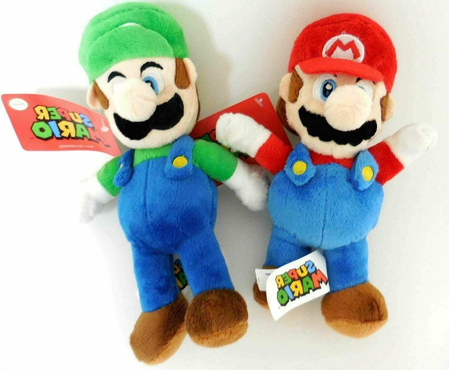 Mario & Luigi Super Brothers Plush SET Stuffed Doll Kids Gif