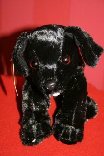 """BLACK LAB 10"""" Plush ANIMAL Toy"""
