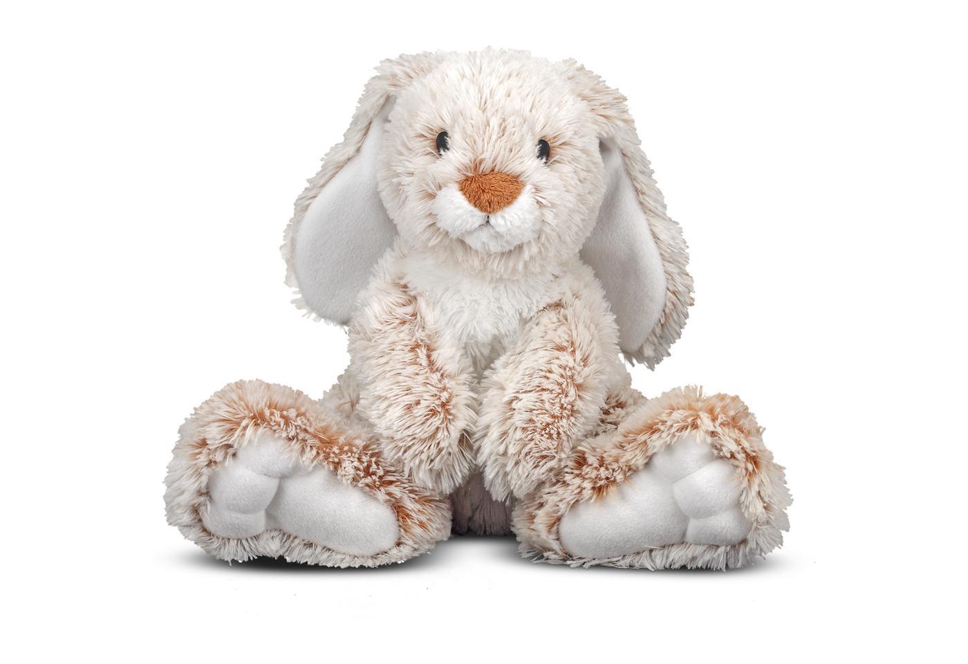 melissa and doug burrow bunny rabbit stuffed