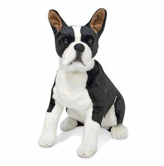 melissa and doug giant boston terrier lifelike
