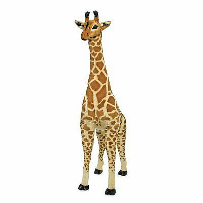 melissa and doug plush jumbo giraffe stuffed
