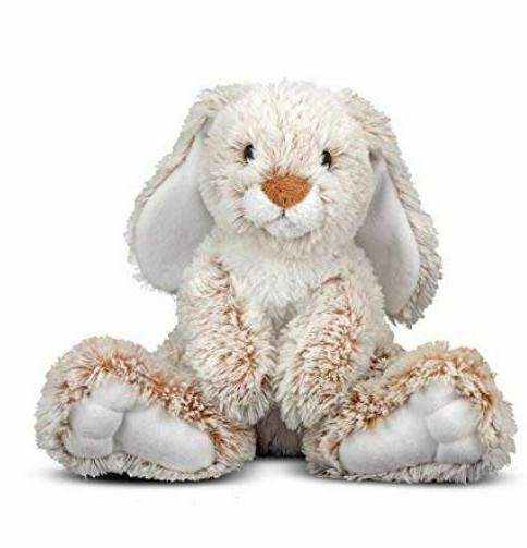 melissa doug burrow bunny rabbit stuffed animal