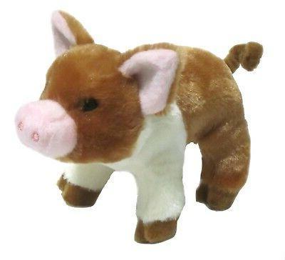 Douglas RUST PIG Stuffed Farm Cuddle NEW