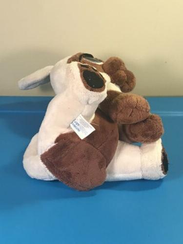 """MGA Rescue Pets Animated Plush Dog 10"""" White Brown Toy"""