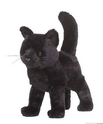 "Douglas Midnight Plush BLACK CAT  Toy 12"" Stuffed Animal NEW"