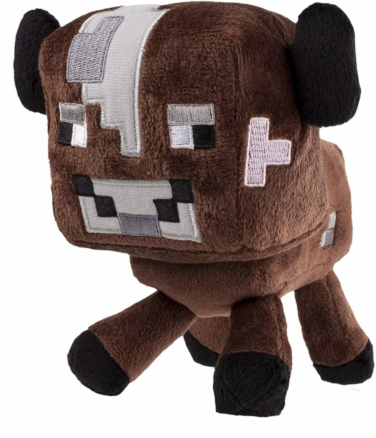 """Minecraft Brown Baby Cow Video Game Plush 6"""" Stuffed Toy Ani"""