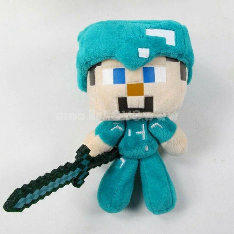 "Minecraft Plush Steve w/Sword 6"" Animals Toys"