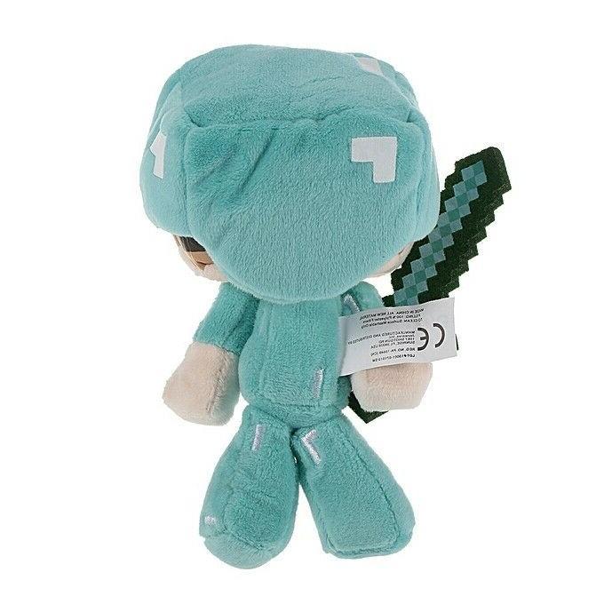 "Minecraft Plush Steve w/Sword 6"" Stuffed Animals Toys"