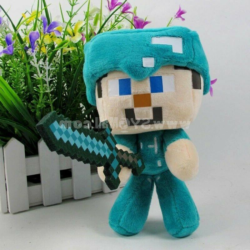 Minecraft Plush Steve w/Sword Stuffed Toys