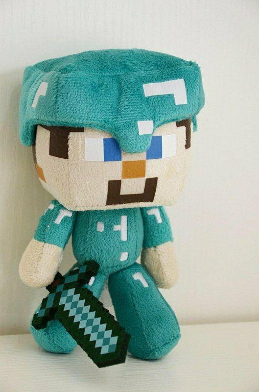 minecraft plush doll steve w sword 6